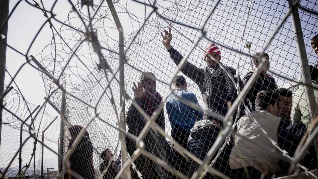 Fotografía de refugiados a su llegada a la isla griega de Samos.