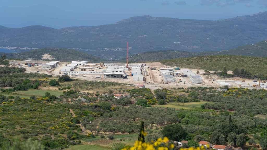 El nuevo campo de refugiados de Samos alojará a tres mil personas.