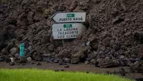 Terreno de La Palma ya conquistado por material volcánico.