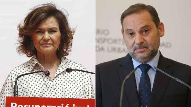 Carmen Calvo y José Luis Ábalos.