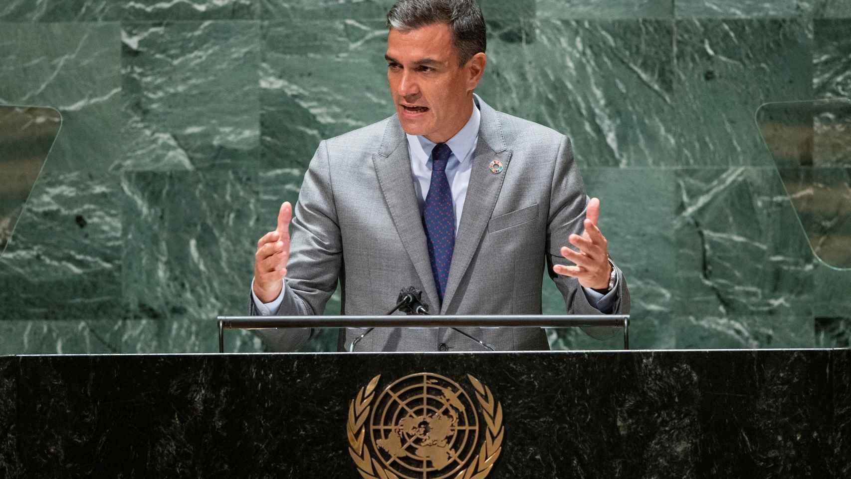 Pedro Sánchez alerta en la Asamblea General de la ONU: «La democracia está amenazada»