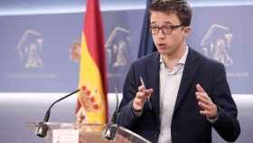 Íñigo Errejón, en una rueda de prensa en el Congreso de los Diputados.