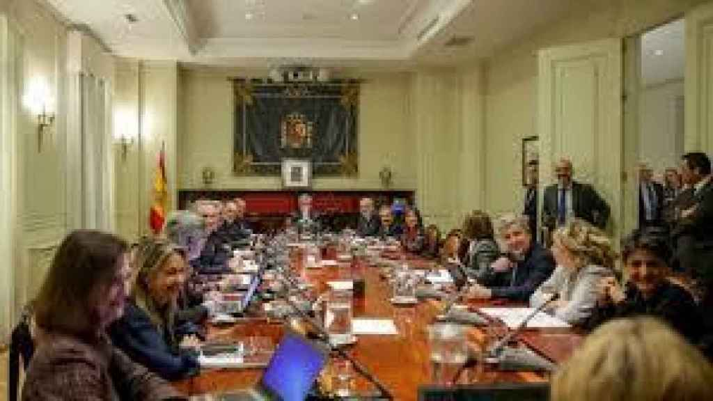 Reunión del pleno del CGPJ en una imagen de archivo./