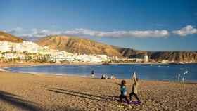Una de las playas del término municipal de Arona (Tenerife).