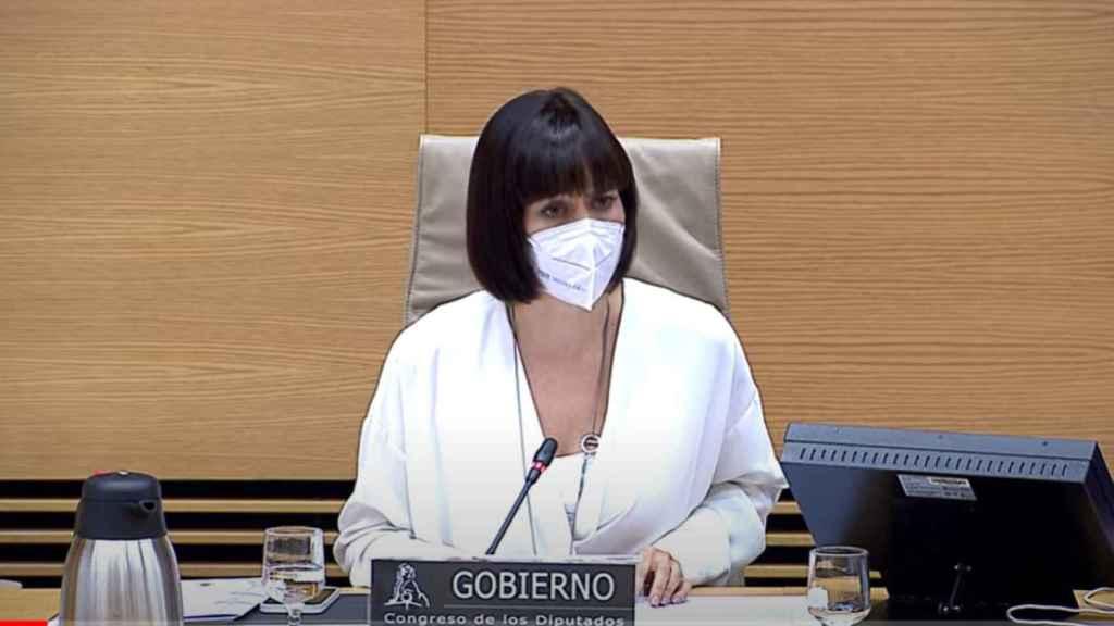 La ministra de Ciencia e Innovación, Diana Morant, durante su intervención en el Congreso