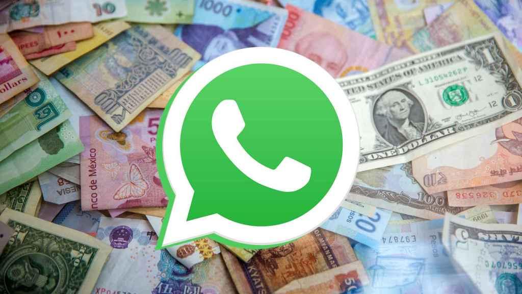 Dinero y WhatsApp.