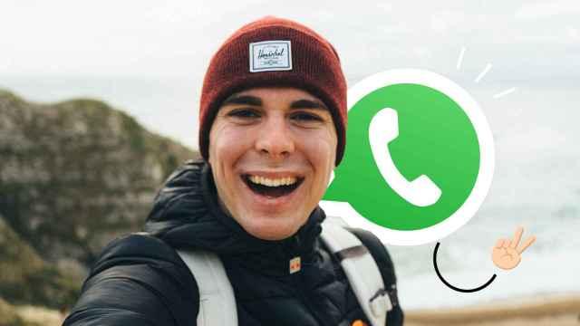 WhatsApp en un selfie.
