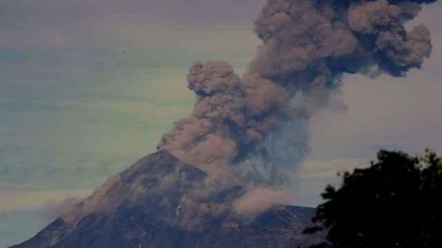 El volcán de Fuego de Guatemala.
