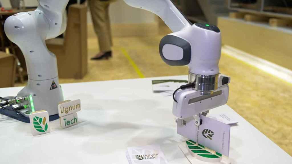 Brazo robótico de Lignum Tech en Rebuild 2021