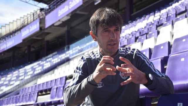 Pacheta durante la entrevista en el estadio José Zorrilla