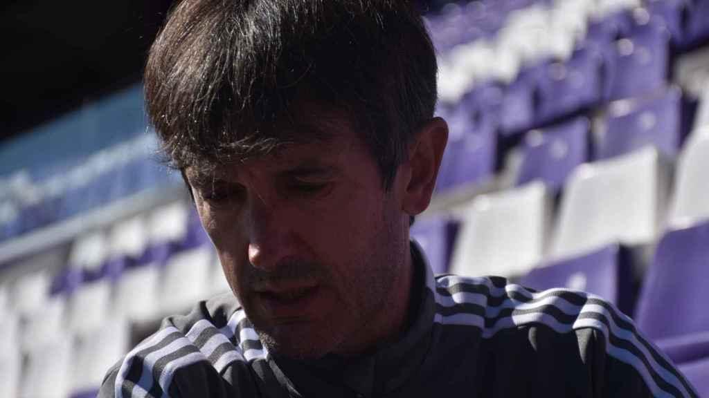 El entrenador en la grada del José Zorrilla