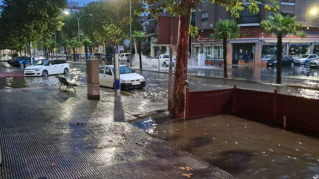 Calles inundadas en Talavera de la Reina (Toledo). Foto: Francisco Rodríguez