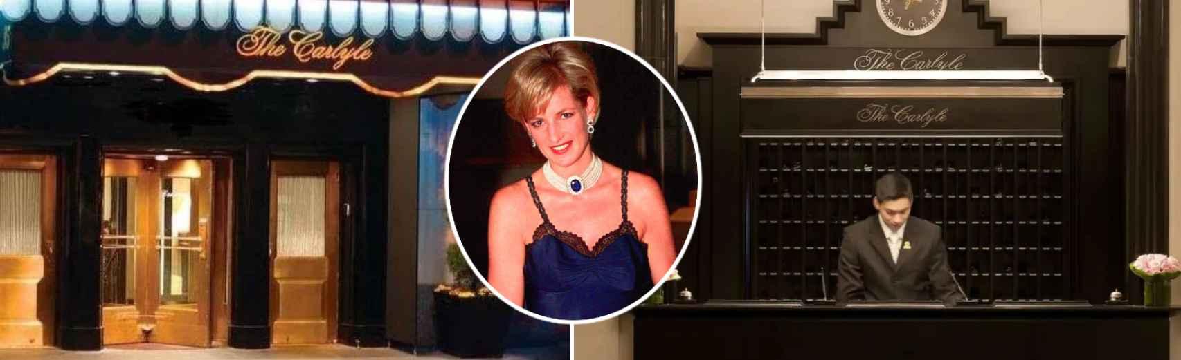 Lady Di se alojaba en The Carlyle, en la Suite Real, cada vez que viajaba Nueva York.