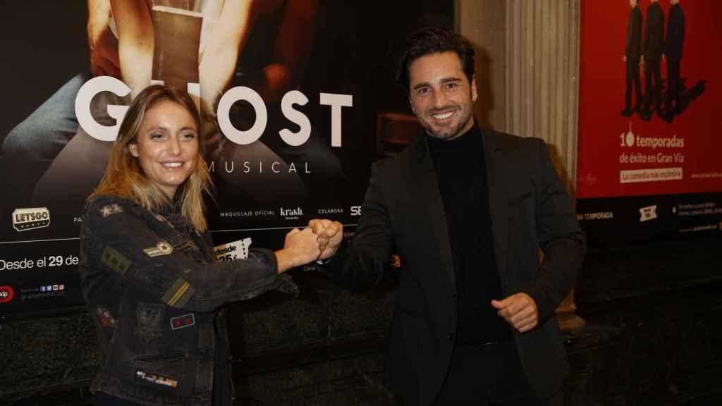 David Bustamante junto a Andrea Levy durante la presentación del musical.