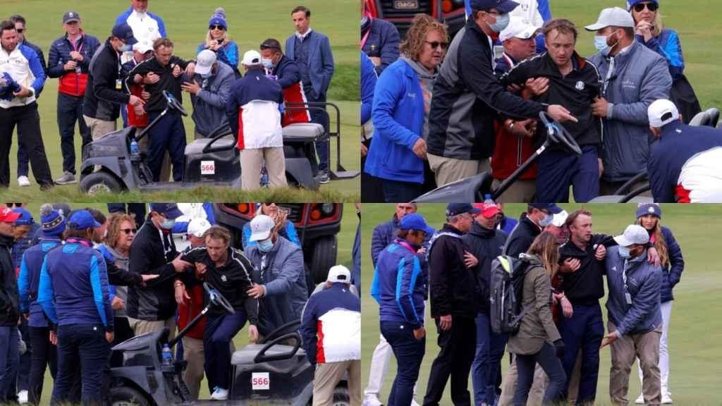 La secuencia de imágenes del desmayo de Tom Felton en la Ryder Cup