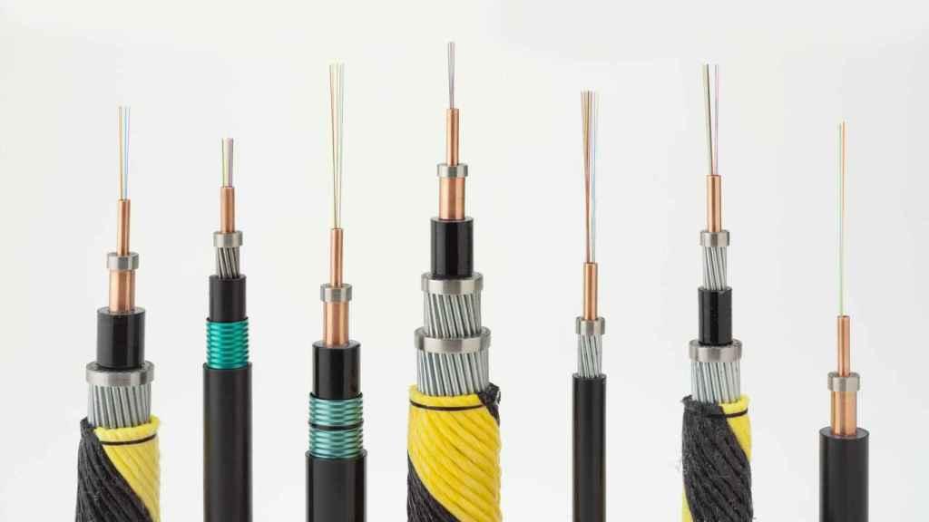 Algunos de los tipos de cables.