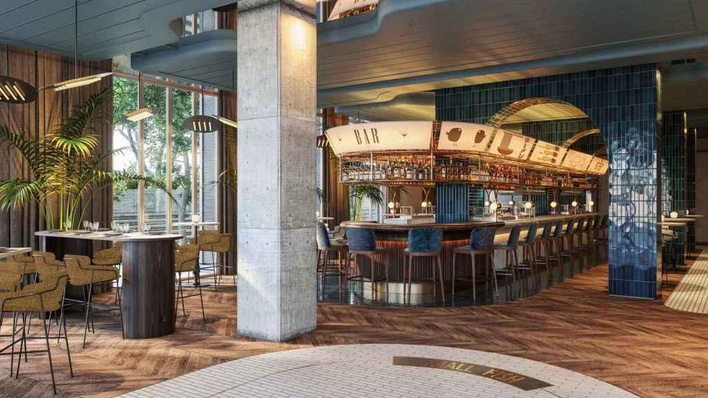 Imagen del bar del hotel de 5 estrellas de La Equitativa, en Málaga.