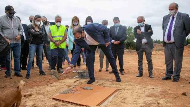 Primera piedra del nuevo centro de salud de la localidad conquense de Campillo de Altobuey