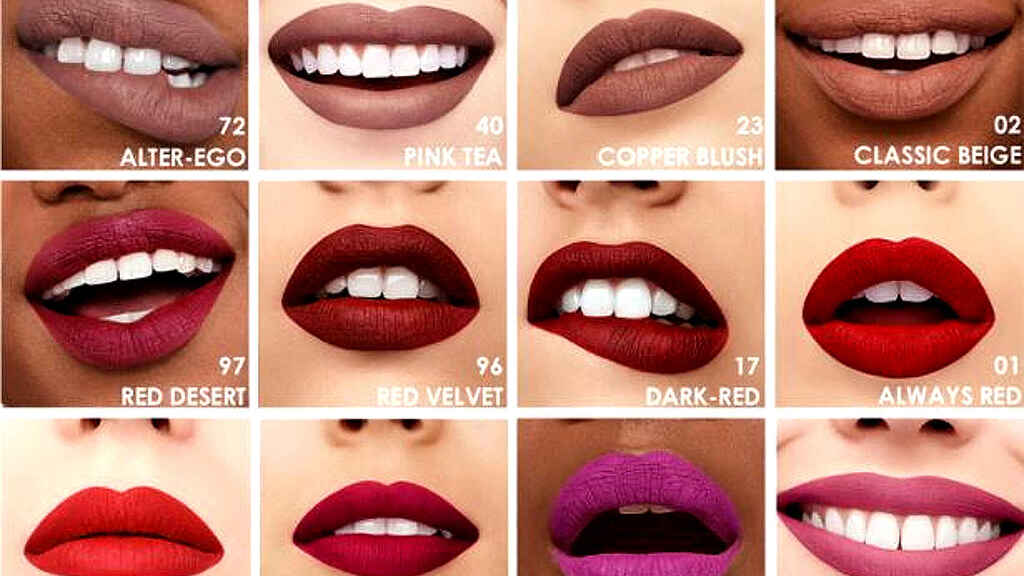 Algunas tonalidades del labial de Sephora que está arrasando.