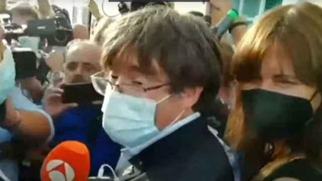 Puigdemont sale de prisión.