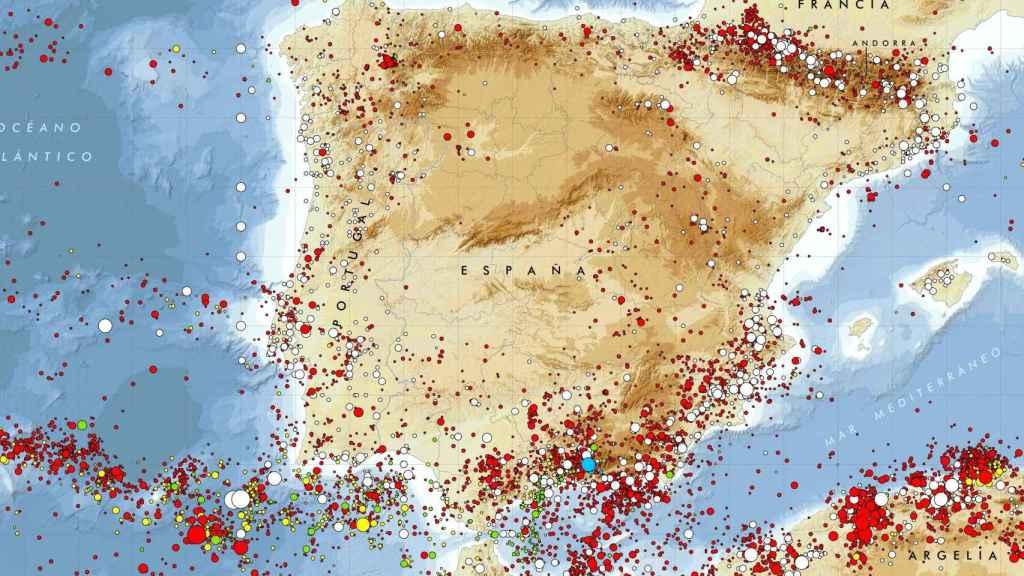 Mapa sísmico en España