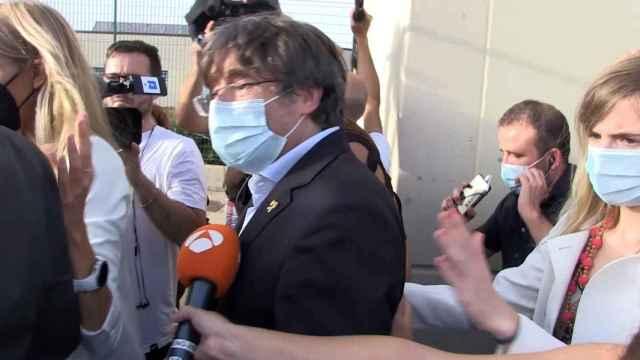 Imagen de Carles Puigdemont tras salir de la prisión de Cerdeña.