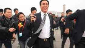 Xu Jiayin, presidente de Evergrande, con su llamativo cinturón de Hermès.