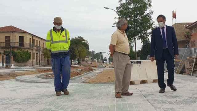El alcalde de Salamanca visita una obras