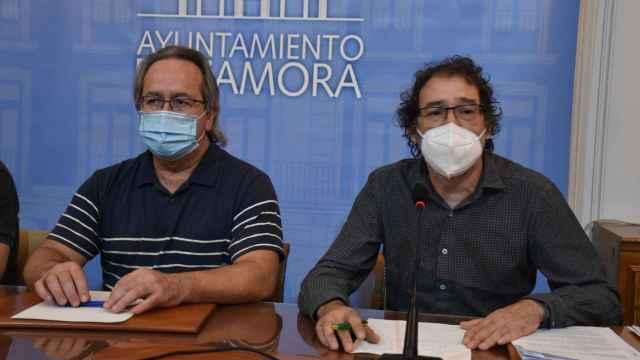 El alcalde de Zamora, Francisco Guarido y el concejal de Contratación y teniente de alcalde, Miguel Ángel Viñas