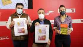 Los procuradores socialistas por Zamora, Ana Sánchez, José Ignacio Martín y Carlos Fernández