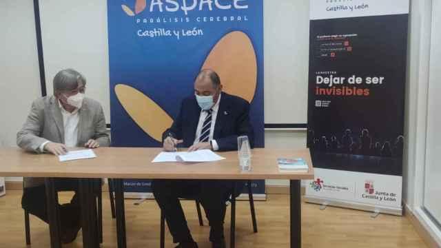Firma del convenio de colaboración entre Campofrío y Aspace Castilla y León