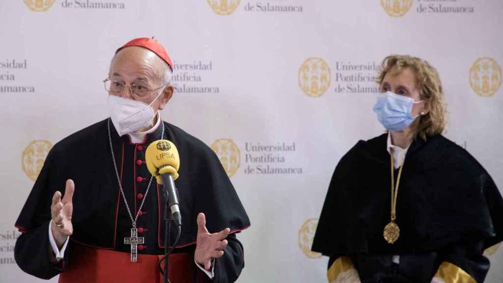 El cardenal Ricardo Blázquez, en su visita a Salamanca