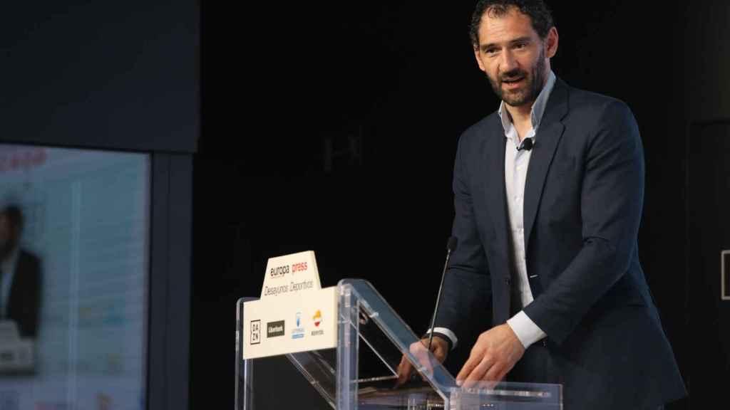 Jorge Garbajosa, durante un acto
