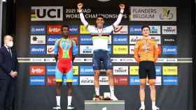 Grmay, Baroncini y Kooij, en el podio del Mundial de Flandes 2021