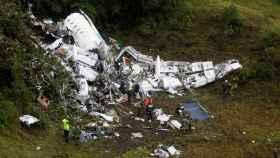 El avión del Chapecoense que se estrelló cerca del aeropuerto de Medellín