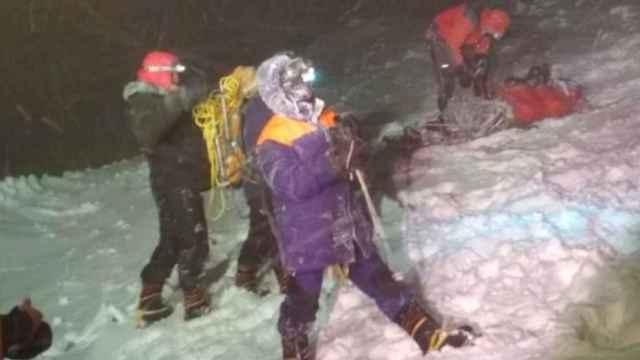 Los servicios de emergencia durante el rescate
