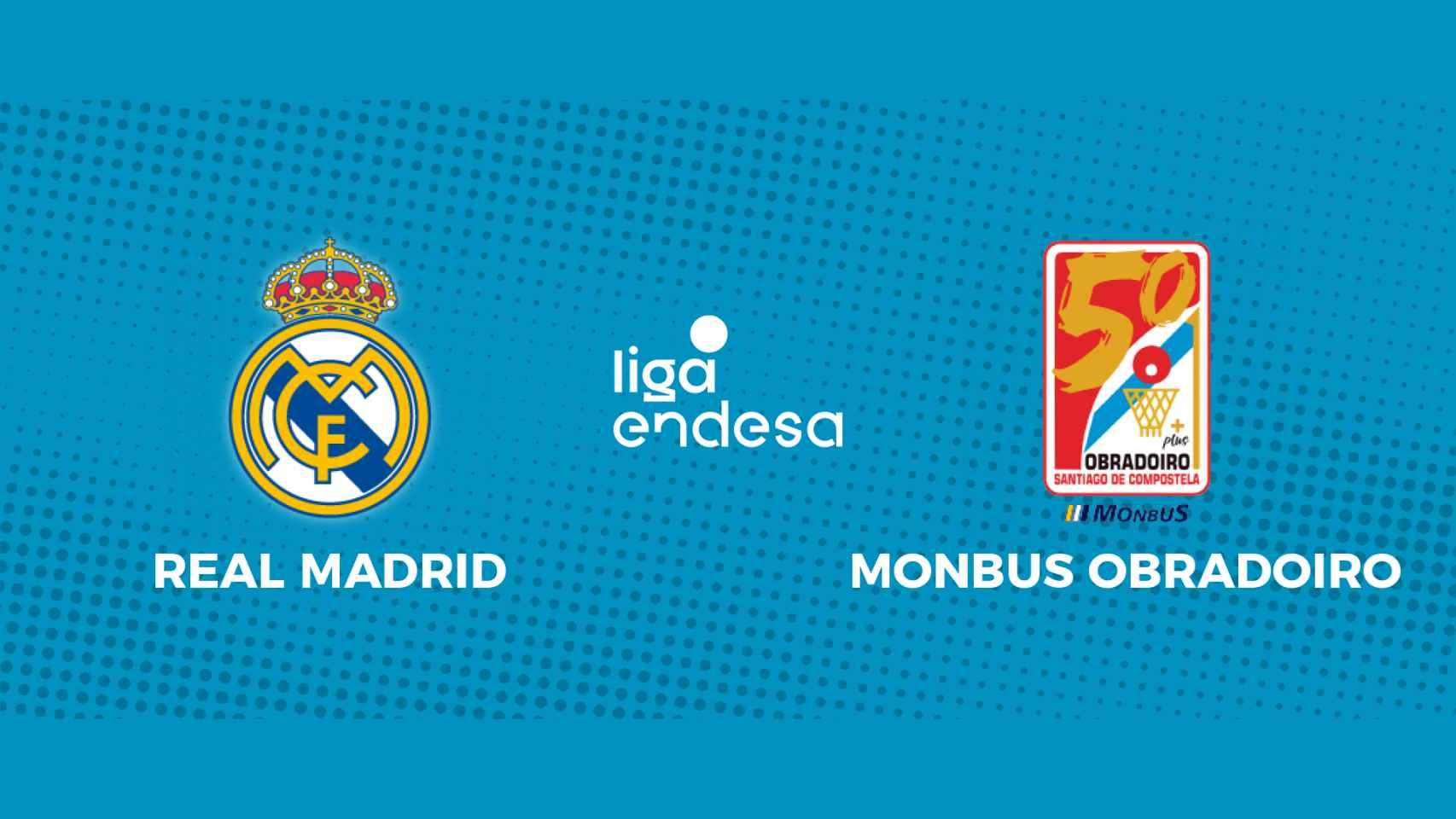 Real Madrid - Monbus Obradoiro: siga en directo el partido de la Liga Endesa