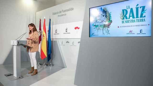 Blanca Fernández durante la rueda de prensa.