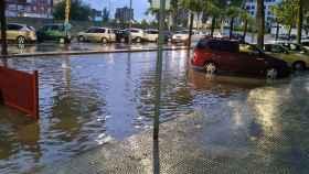 Una imagen de las intensas lluvias de este viernes en la localidad toledana de Talavera de la Reina