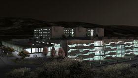 Maqueta del nuevo hospital de Cuenca. Foto: ccrrarquitectos.com