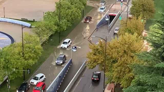 El agua inunda Talavera de la Reina (Toledo). Vídeo: Mari Carmen, vecina de la ciudad