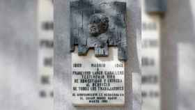 Placa de Francisco Largo Caballero.