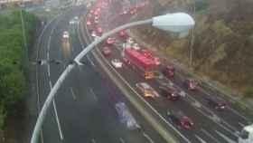 Las primeras lluvias del curso dejan un caos de circulación en Málaga /MA-20