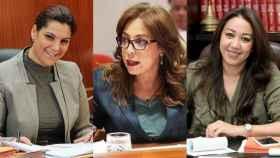 Las alcaldesas Fatima-Zahra Mansouri, Asmaa Rhlalou y Nabila Rmili.