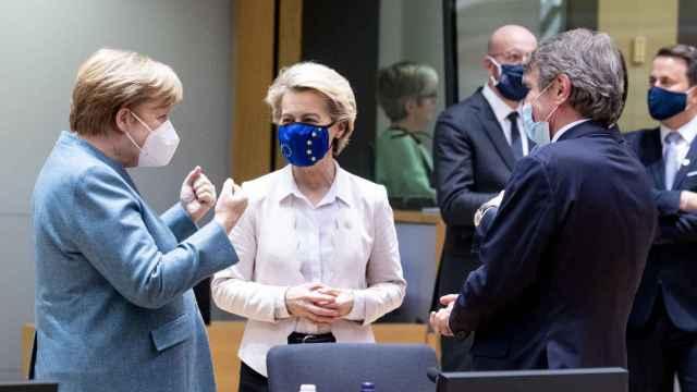 La canciller alemana, Angela Merkel, durante una cumbre de la UE en Bruselas