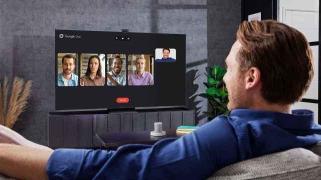 Google Duo en un televisor Samsung.