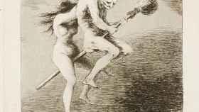 Caprichos de Goya. Linda maestra.
