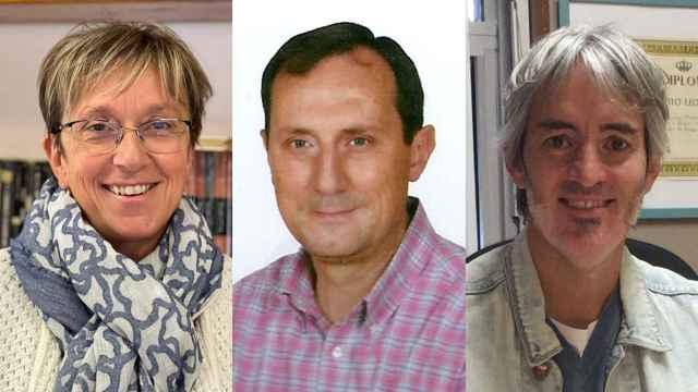 Enar Rubio, Miguel Escribano y Ángel Hidalgo, tres directores de centros públicos.