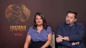 Gema R. Neira y Ramón Campos en la presentación de 'Jaguar'.