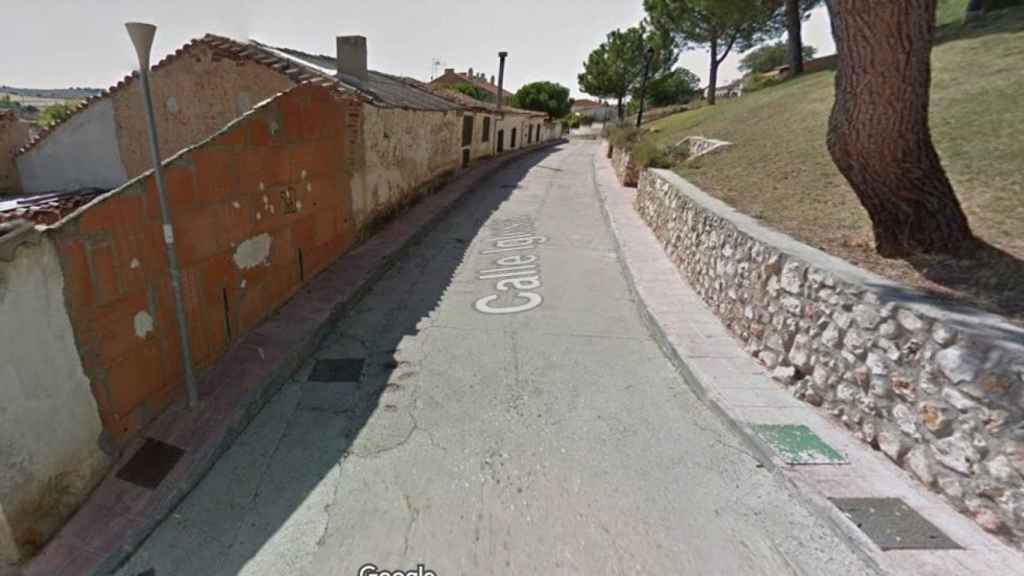 Calle Iglesia en Valdeaveruelo
